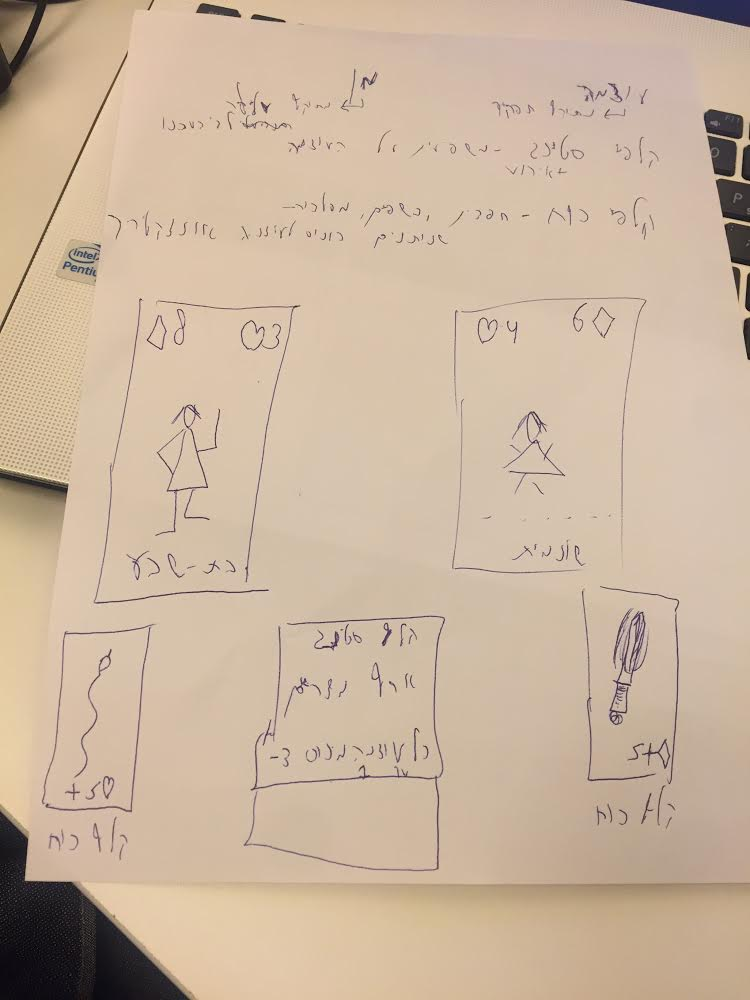 תכנון קלפי המשחק