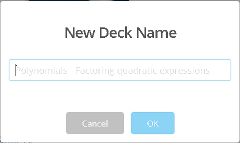 New Deck Name